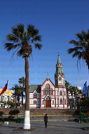 Plaza Colon and San Marcos church, Arica, Region XV, Chile