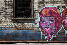 Street art / graffiti on house , Iquique , Region I , Chile