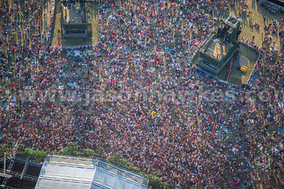 Aerial view of people at event in Hyde Park, London
