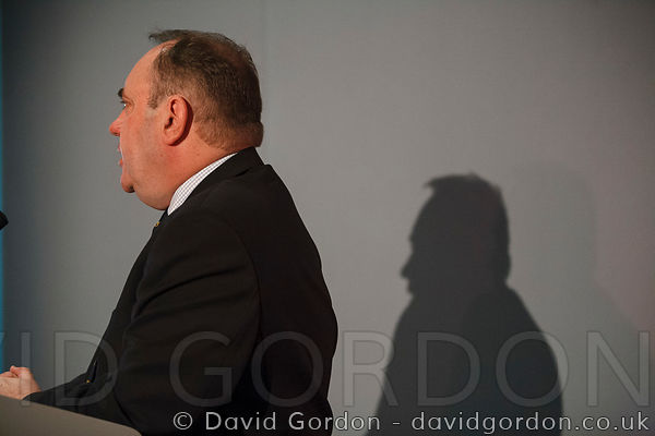 Alex Salmond, leader of the Scottish National Party (SNP) addressing the STUC