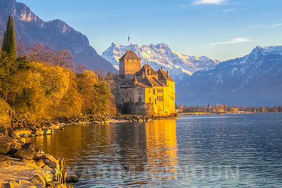 Chateau Chillon  and les Dents du Midi