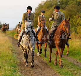 Richard Hunnisett, Ashley Bealby canter towards Mrs Wilson's covert 27/9