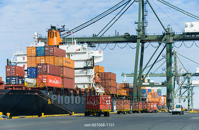 Container stowage at Barbours Cut Terminal