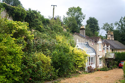 Houses On Gravel Lane- Monkton Combe, England