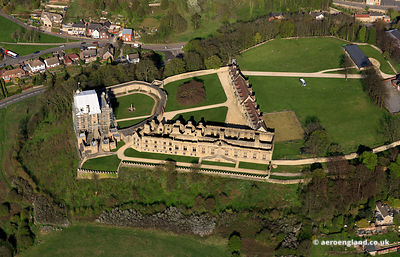 aerial photograph of  Bolsover Castle Derbyshire   England UK