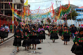 Llipi Pulis dance group from Acora village at Virgen de la Candelaria festival, Puno, Peru