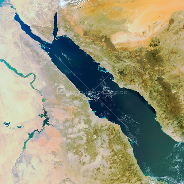EARTH Red Sea -- 16 Feb 2007 -- This ESA Envisat image shows the Red Sea and Egypt (left) and Saudi Arabia (right).
