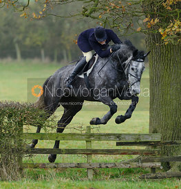 Gaby Cooke jumping a fence near Big Owston Wood