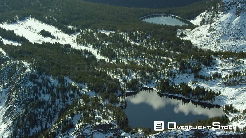 A group high mountain lakes sits in the forests of theBeartooth Moutnain Range in southwestern Montana, near Yellowstone National Park