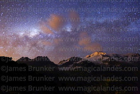 Milky Way Galactic Centre and Mt Huayna Potosí, Cordillera Real, Bolivia