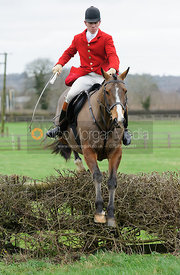 Robert Medcalf jumping the first hedge