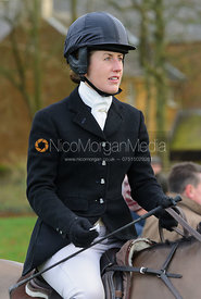 Chloe Jonason at the meet at Goadby Hall - The Belvoir Hunt at Goadby Hall 24/12