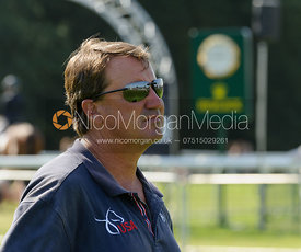 David O'Connor, US Eventing Chef d'Equipe - dressage phase,  Land Rover Burghley Horse Trials, 5th September 2013.
