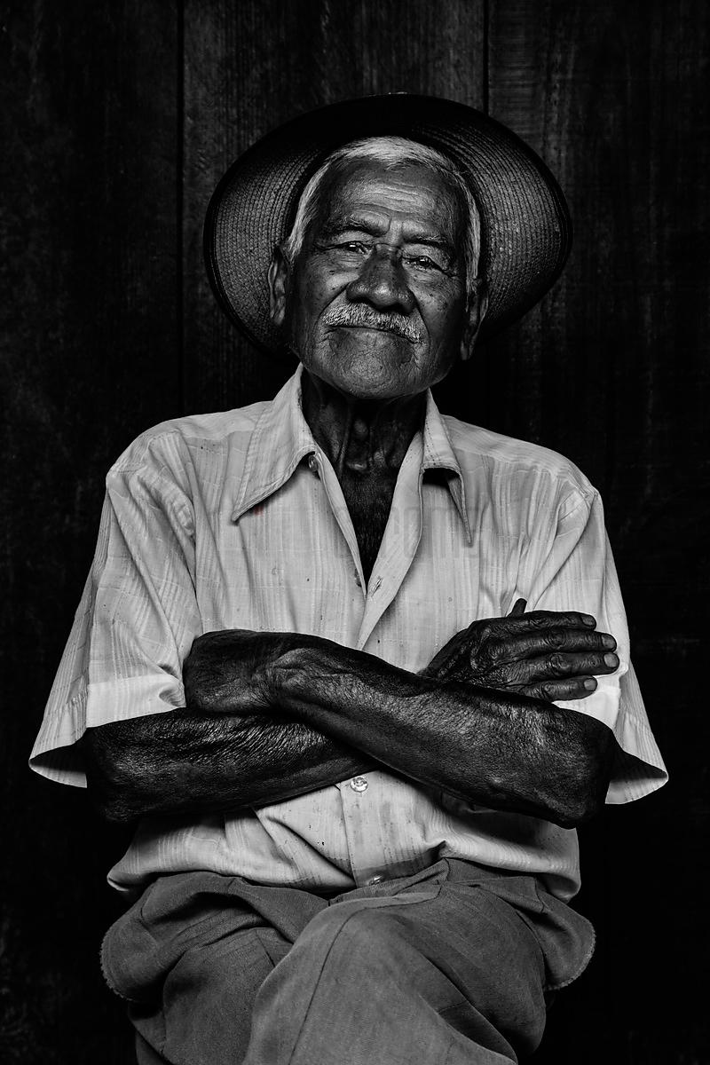 Portrait of an Elderly Man at the Antigua Market