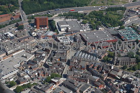Stockport aerial photograph of Veron Street and the Market Place and the surrounding area looking towards Knightsbridge and the Motorway