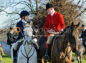 Joe Tesseyman at the meet - The Cottesmore Hunt at Barholm 29/12