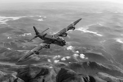 Short Stirling air test black and white version