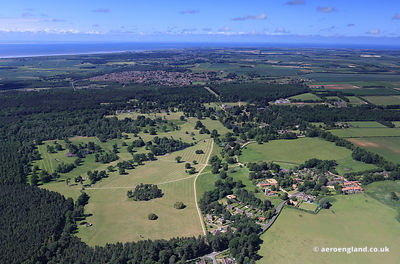 aerial photograph of the Sandringham Estate   Norfolk