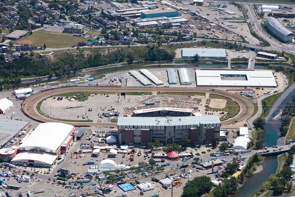 Aerial Photo Stampede Park Calgary