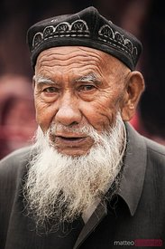 Portrait of old uighur man, Xinjiang, China