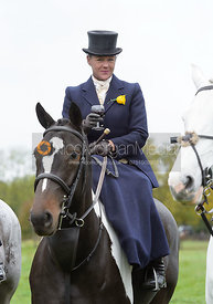 Emma Brown at the meet - Quorn Hunt Opening Meet 20/3