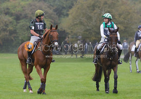 Michael Owen and  THE HIGHLAND PRINCE, Michael Ryan and BALLYLYNCH ADVENTURE - cross country phase,  Land Rover Burghley Horse Trials, 6th September 2014.