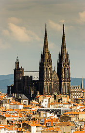 Roofs and cathedral of Clermont Ferrand