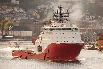 Sea Sapphire Supply Vessel in Bergen Harbour