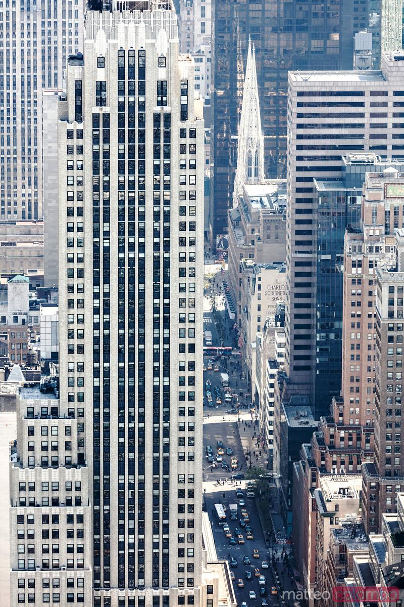 Aerial of Midtown Manhattan at daytime, New York, USA