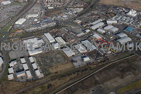 Widnesaerial photograph of old disused industrial land and factories Tanhouse Lane and Moss Bank road