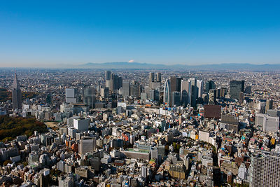 Cityscape of Tokyo Japan with view of Mount Fuji