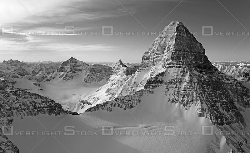 Black and White of Mount Assiniboine Canadian Rockies
