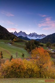 Autumn in the Dolomites mountains, Italy