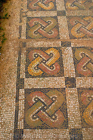 Mosaic Foor of the New House of The Hunt, Bulla Regia, Tunisia; Vertical