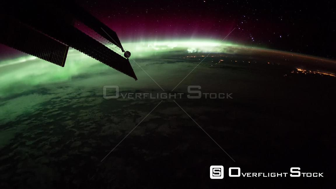 Timelapse from ISS over USA Aurora Borealis 17 Sep 2017 from Space