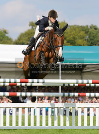 Louisa Lockwood and BALLYFARRIS FLIGHT - show jumping phase, Burghley Horse Trials 2014.