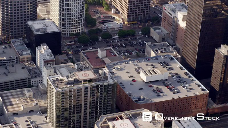 HA Aerial View Of Downtown Los Angeles, RED R3D 4k California