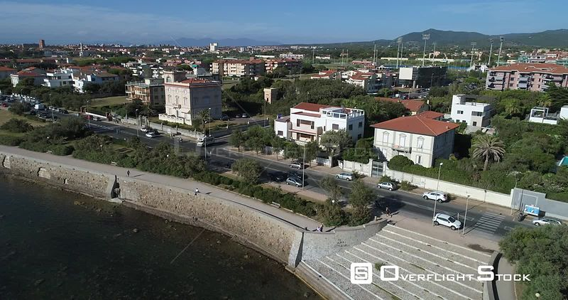 Port City of Livorno Drone Video Italy