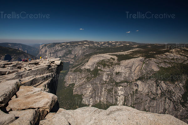 The view from the top of Half Dome, Yosemite National Park, California