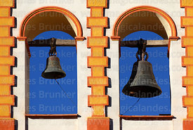 San Benito church bell-gable detail, Potosí, Bolivia