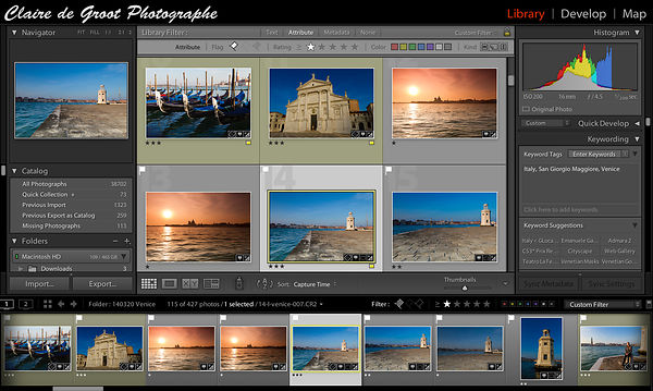 Lightroom: Importing and the Library Module photos