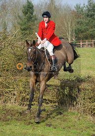 Hartley Crouch jumping a fence from the meet at Lockwood