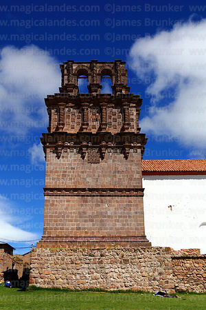 Unfinished belfry of Nuestra Señora de la Asunción church, Juli, Puno Region, Peru