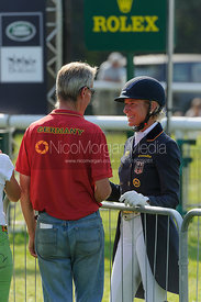 Chris Bartle and Ingrid Klimke - dressage phase,  Land Rover Burghley Horse Trials, 5th September 2013.