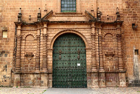 Main entrance of the Temple of the Holy Family / Templo de la Sagrada Familia, Cusco, Peru