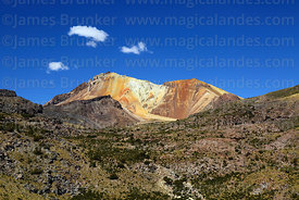 Tunupa volcano viewed from southwest, Oruro Department, Bolivia