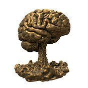 Bronze Brain on White