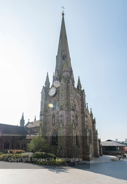 The church of St Martin in the Bull Ring in Birmingham, England