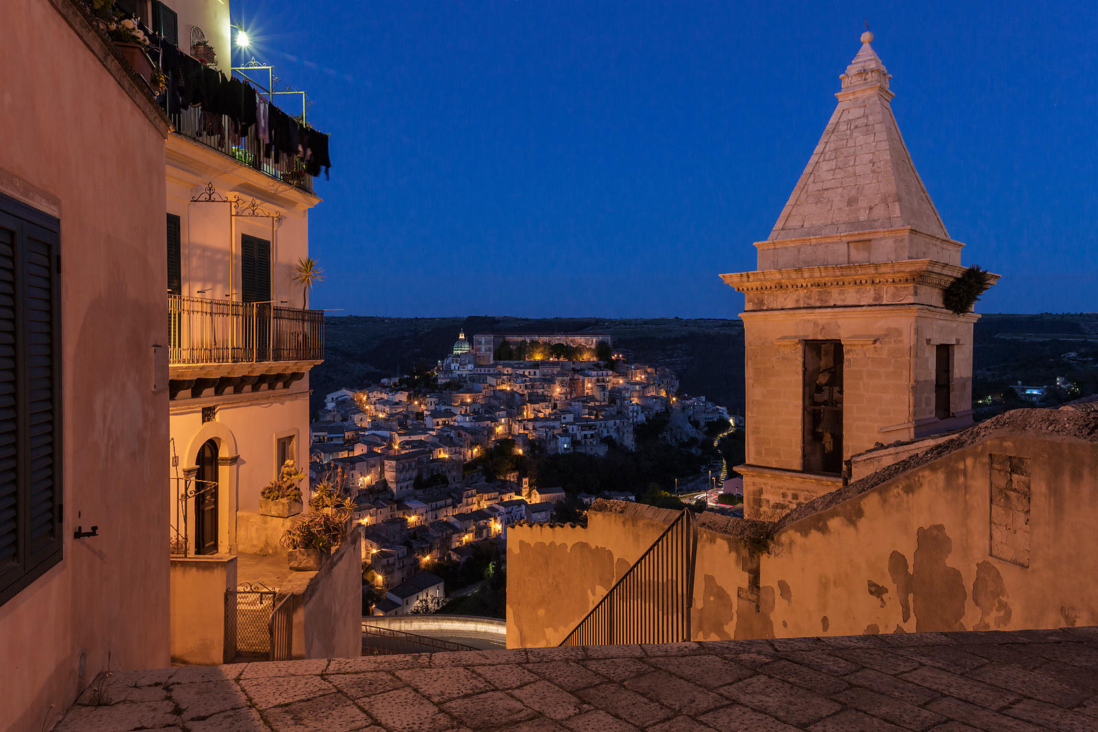 Elevated View of Ragusa Ibla from the Steps of Santa Maria delle la Scale