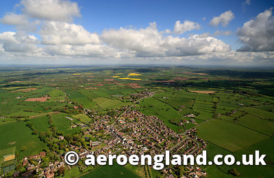 aerial photograph of the Cheshire Plain at Malpas England UK